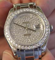Rolex Platinum Masterpiece Diamond Pave Dial with Diamond Bezel
